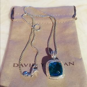 David Yurman 11mm Diamond Albion Topaz Pendant